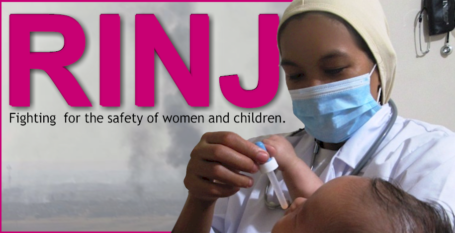 The RINJ Foundation fighting for the safety of women and children. width=
