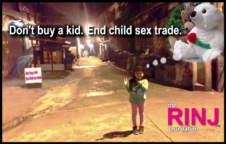 Don't buy a kid. End child sex trade.