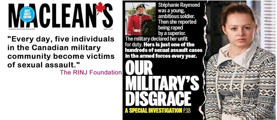Canadian military rapes going unpunished -RINJ-Foundation