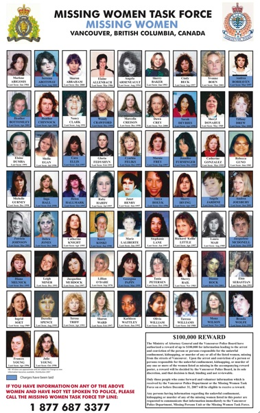 Missing Canadian Aboriginal Women