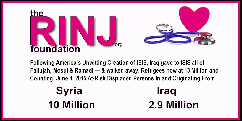 Following America's Unwitting Creation of ISIS, Iraq gave to ISIS all of Fallujah, Mosul & Ramadi -- & walked away. Refugees now at 13 Million and Counting.