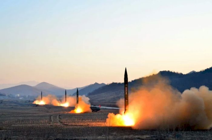 Prelude to nuclear war: DPRK-released photo of Missile Launches by the People's Army