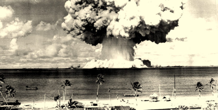 Prelude to nuclear war: Bikini Atoll, Marshall Islands - July 25, 1946