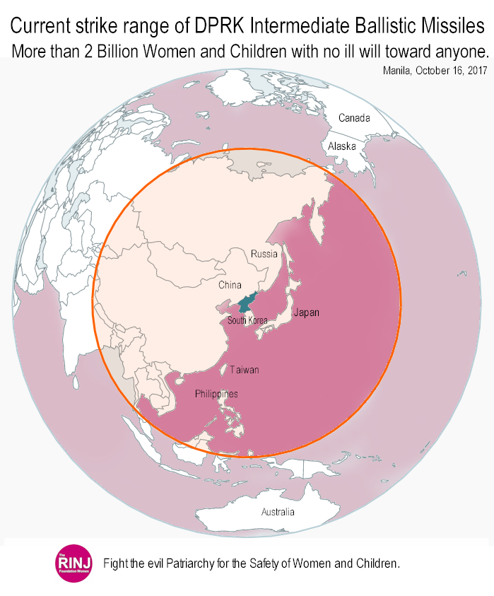 North Korean Intermediate Missile reach