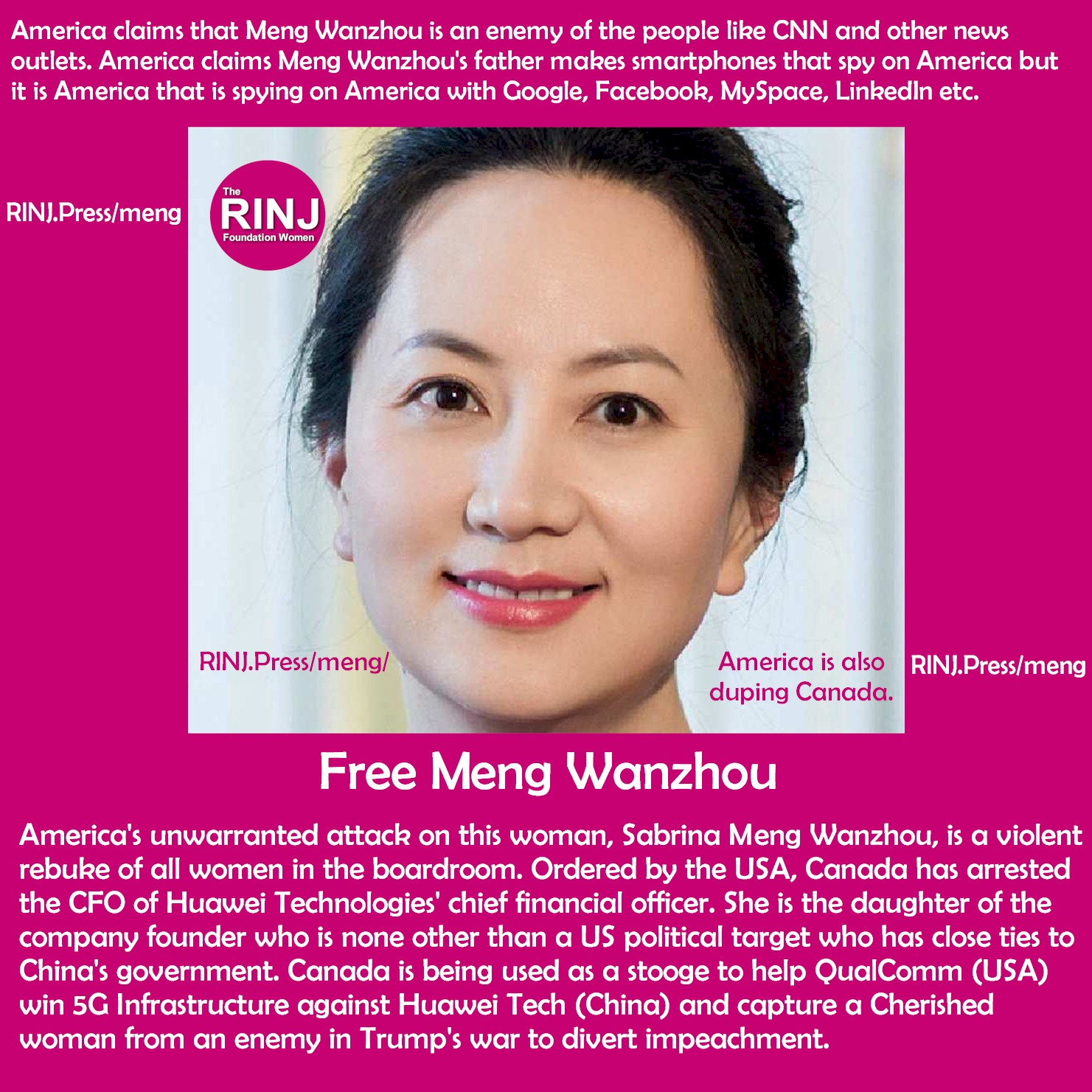 Free Meng Wanzhou