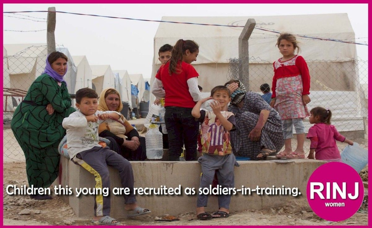 Children this young are recruited by the PKK/YPG as soldiers-in-training.